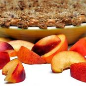 Nectarine Almond Crumble Pie