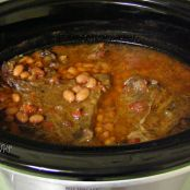 Crock Pot Mexican Roast & Pinto Beans