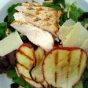 Grilled Apple and Chicken Salad with Cider-Maple Vinaigrette