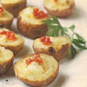 Smoked Salmon & Cheese Mini Twice-Baked Potatoes