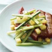 Tuna (or Swordfish)with Sweet and Sour Pineapple, Cucumber, and Celery