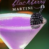 Coconut Blackberry Martini