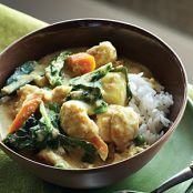 Halibut with Coconut Ginger Curry