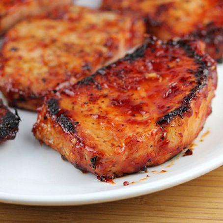 pork chop recipes honey ketchup Honey Garlic Pork Chops Recipe - (2.2/2)