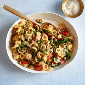 Lemony one pan orecchiette with sausage and broccolini