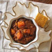 Pumpkin, Sweet Potato, & Black Bean Chili