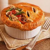 Chicken, Mushroom, and Sun-dried Tomato Pot Pies