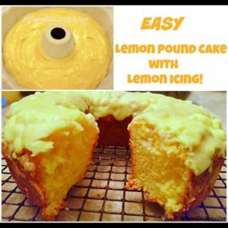 Lemon Pound Cake with Lemon Icing