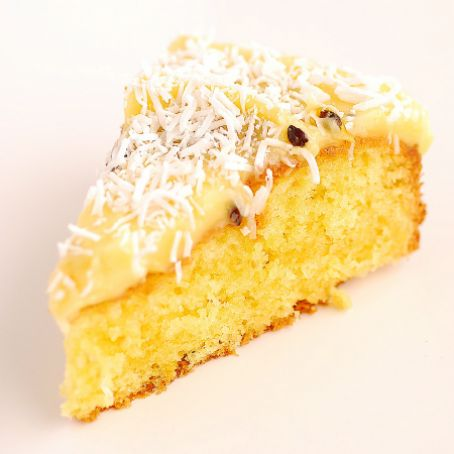 Coconut and Passionfruit Slice