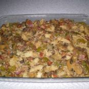Mom's Bread Stuffing with  Mushrooms and Bacon