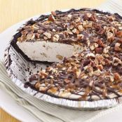 Super Simple Caramel Turtle Ice Cream Pie