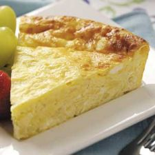 Crustless Four Cheese Quiche