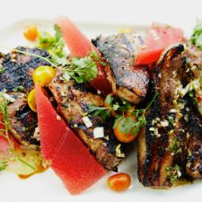 Pork: Country-Style Ribs with Quick-Pickled Watermelon