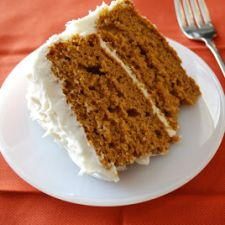 Pumpkin Spice Cake & Cream Cheese Frosting