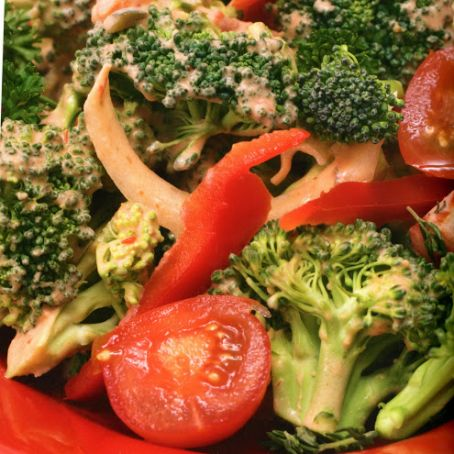 Mediterranean Broccoli in a Rose Sauce