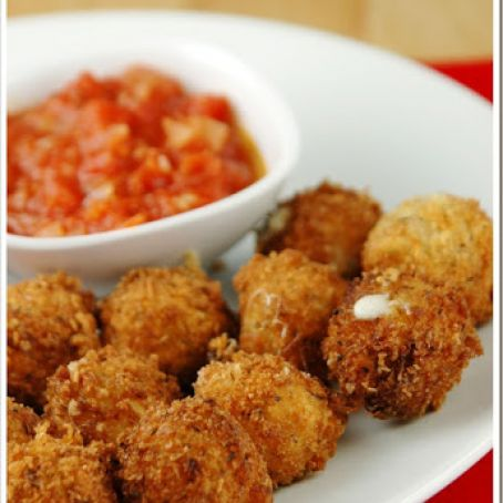 Fried Mozzarella Cheese Balls with Quick Tomato Sauce