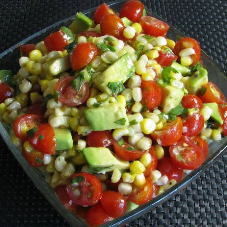 Grilled Corn, Avocado & Tomato with Honey Lime Dressing