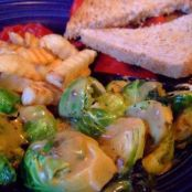 Roasted Brussels Sprouts with Sweet Dijon Mustard