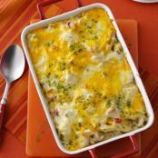 Chicken and Cheese Noodle Bake