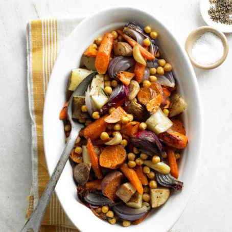 Roasted Vegetables & Chickpeas