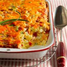 Cheesy Ham and Potato Bake