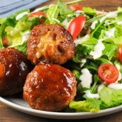 Cheddar-Stuffed Turkey Meatballs