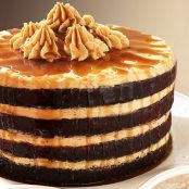 Chocolate Espresso Cake with Peanut Butter Frosting & Rum Drizzle