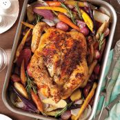 Lemon-Thyme Roasted Chicken and Root Vegetables