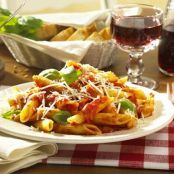 Penne Pasta with diced tomato and fresh Ricotta cheese     (Olive Garden)