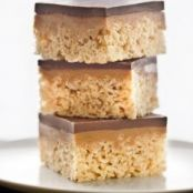 Chocolate, Caramel Peanut-Butter Rice Krispies Treats