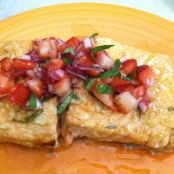Brown Sugar Lime Salmon with Strawberry Salsa