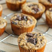Paleo Almond Butter Chocolate  Banana Muffins