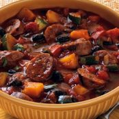 Grilled Chorizo and Black Bean Stew