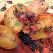 Fingerling Potatoes with Caramelized Onions and Bacon