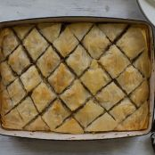 Spiced Pumpkin Baklava with Walnuts