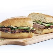 Grilled Pork Sandwiches with Fennel, Dill, and Cucumber