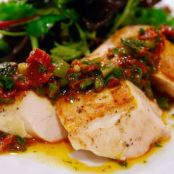 Sous-Vide Chicken with Sun-Dried Tomato Vinaigrette