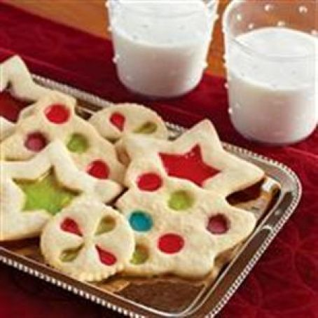 Stained-Glass Cut Out Cookies