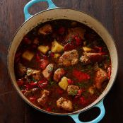 Spicy Pork Stew with Peppers and Potatoes