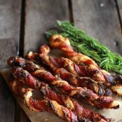 Cheese Bacon Wrapped Pastry Twists