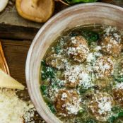 Meatballs with Mushrooms and Spinach