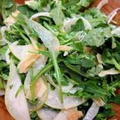 Arugula Salad with Fennel, Pear, & Shaved Parmesan