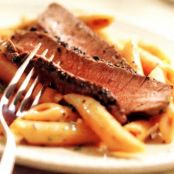 Penne with Peppered Beef