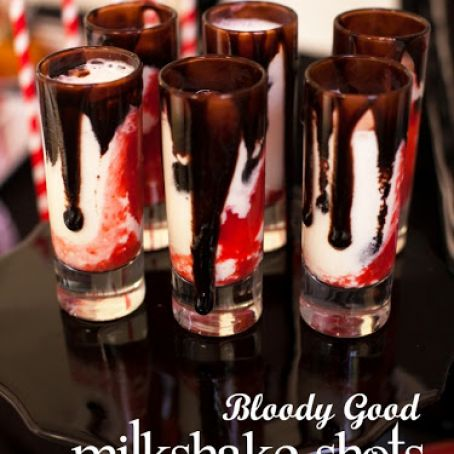 Bloody Good Vampire Non-Alcoholic Milkshake Shots