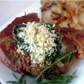 Tyler Florence's Pan Roasted Cowboy Ribeye with Creamed Swiss Chard