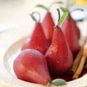 Red-Wine-Poached Pears