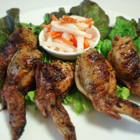 Cambodian Stuffed Chicken Wings