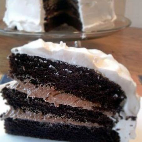 Chocolate Bliss Cake with Fluffy 7-Minute Frosting