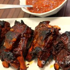 Pressure Cooker Barbecued Baby Back Ribs