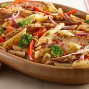 Chicken And Vegetable Pasta Salad With Balsamic Vinaigrette